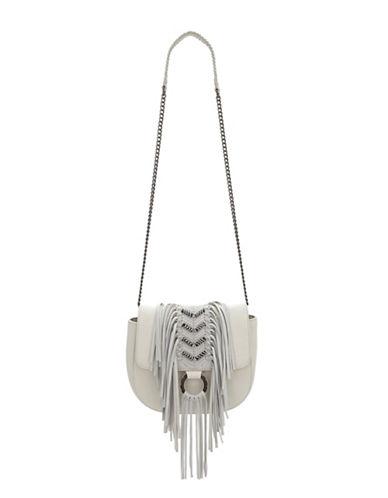 Sam Edelman Donna Fringe Shoulder Bag-WHITE-One Size