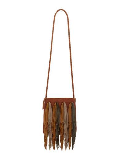 Sam Edelman Leather Fringe Crossbody Bag-BROWN-One Size