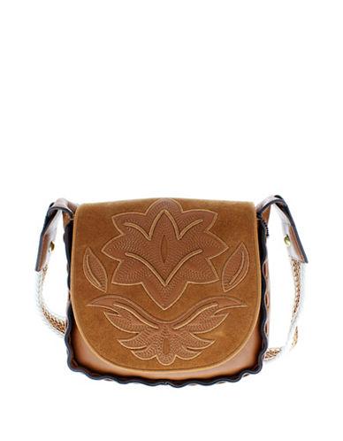 Sam Edelman Emma Saddle Bag-BROWN-One Size