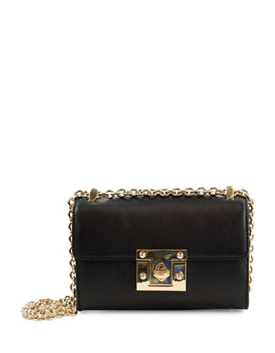Sam Edelman Sissy Leather Mini Shoulder Bag-BLACK-One Size