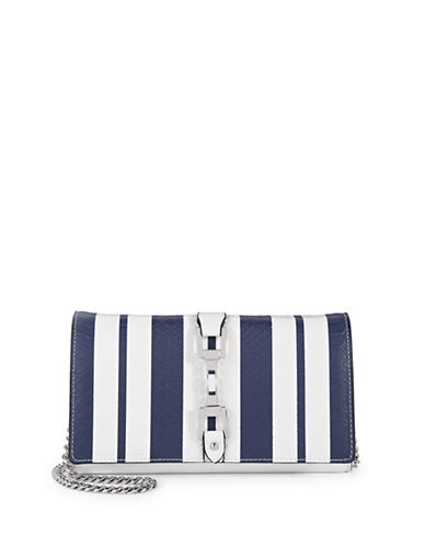 Sam Edelman Gigi Striped Wallet Purse-BLUE-One Size