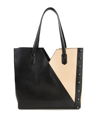 Sam Edelman Skylar Leather Clutch-BLACK-One Size