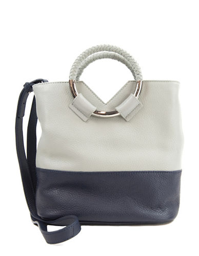 Sam Edelman Elina Colourblock Bucket Bag-BLUE-One Size