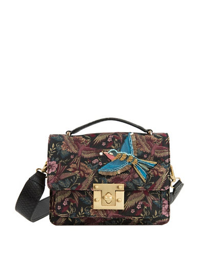 Sam Edelman Gessica Majestic Bird Jacquard Shoulder Bag-GREY-One Size