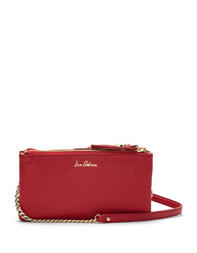 Sam Edelman Leather Mini Crossbody Bag-LIPSTICK-One Size