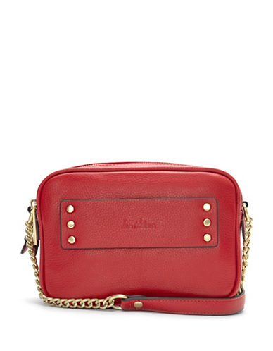 Sam Edelman Raegan Leather Camera Bag-LIPSTICK-One Size