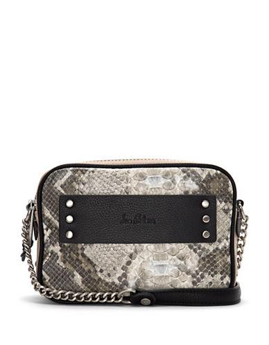 Sam Edelman Raegan Leather Camera Bag-WHITE SNAKE-One Size