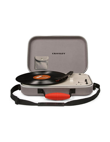 Crosley Messenger Three-Speed Spinning Turntable-GREY-One Size