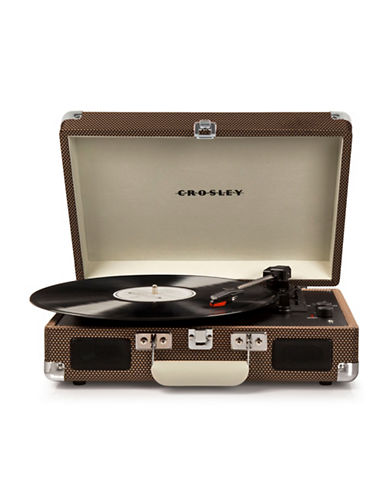 Crosley Cruiser Deluxe Vinyl Turntable-BROWN-One Size