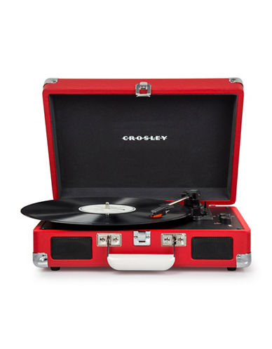 Crosley Cruiser Deluxe Vinyl Turntable-RED-One Size