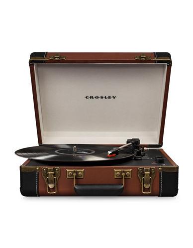 Crosley Executive Portable Usb Vinyl Turntable-BROWN-One Size