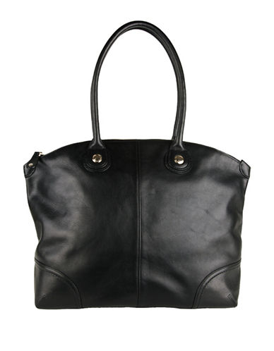 Cole Haan Delphine Leather Tote-BLACK-One Size 88797005_BLACK_One Size