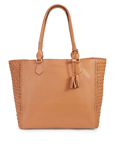 Cole Haan Dillan Leather Tote Bag-PECAN-One Size