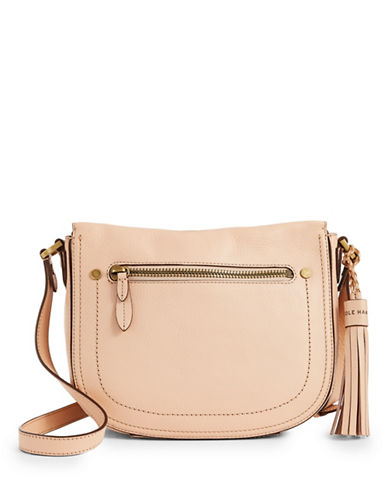 Cole Haan Leather Crossbody Bag-NUDE-One Size