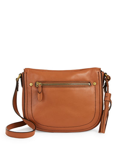 Cole Haan Leather Crossbody Bag-BROWN-One Size