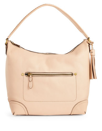 Cole Haan Leather Hobo Bag-NUDE-One Size
