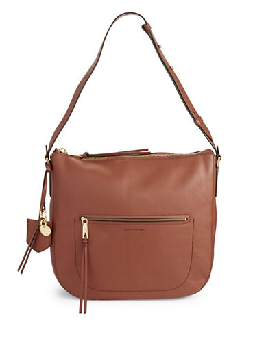 Cole Haan Marlie Bucket Hobo Bag-BROWN-One Size