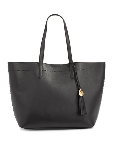 Cole Haan Payson Limoges Leather Tote-BLACK-One Size