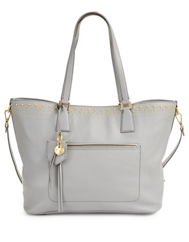 Cole Haan Marli Leather Tote-IRONSTONE-One Size