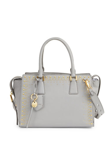 Cole Haan Marli Leather Satchel-IRONSTONE-One Size