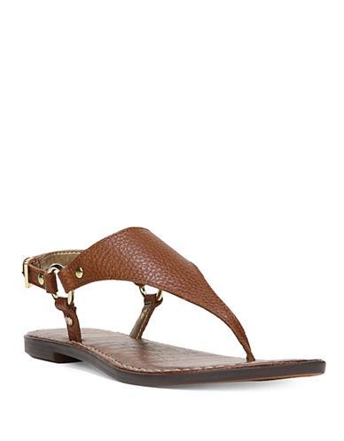 Sam Edelman Greta Leather Thong Sandals-SADDLE-8.5