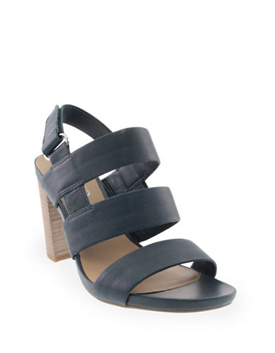 Franco Sarto Jena Leather Slingback Sandals-BLUE-8.5