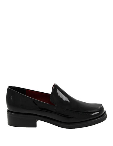 Franco Sarto Bocca Patent Leather Loafer-BLACK LEATHER-11.5W