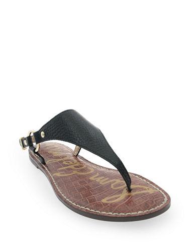 Sam Edelman Greta Leather Thong Sandals-BLACK-6