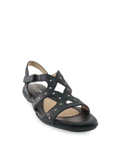 Naturalizer Cadet Strappy Sandals-BLACK-8