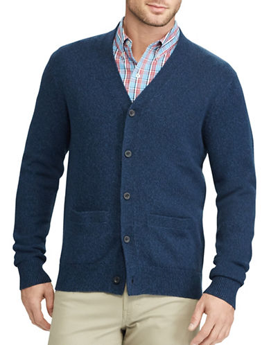 Chaps Big and Tall V-Neck Buttoned Cardigan-NAVY-3X Big