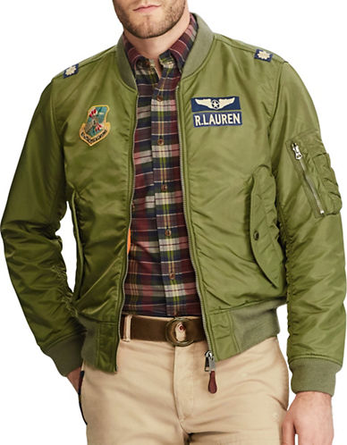Polo Ralph Lauren MA-1 Bomber Jacket-GREEN-Small