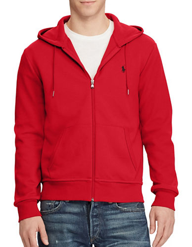 Polo Ralph Lauren Double Knit Hoodie-RED-Large