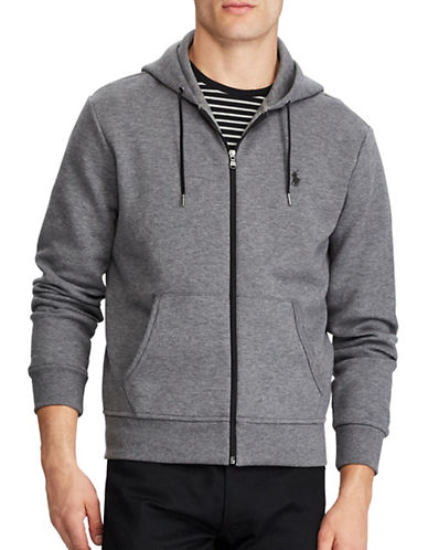 Polo Ralph Lauren Double Knit Hoodie-GREY-Small