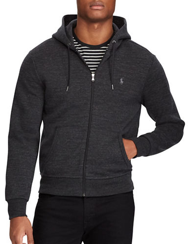 Polo Ralph Lauren Double Knit Hoodie-POLO BLACK-Small