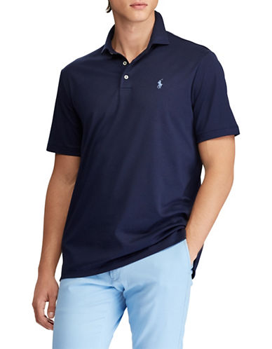 Polo Ralph Lauren Classic-Fit Soft-Touch Cotton Polo-NAVY BLUE-X-Large