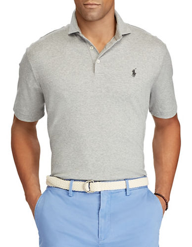 Polo Ralph Lauren Classic-Fit Soft-Touch Cotton Polo-LIGHT GREY-Small