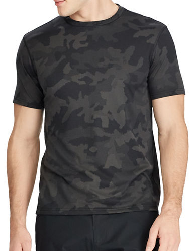 Polo Ralph Lauren Camouflage Active-Fit Performance Tee-GREY-Large