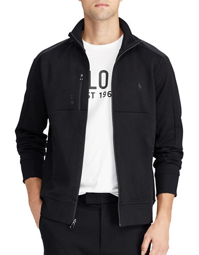 Polo Ralph Lauren Double-Knit Track Jacket-BLACK-Medium 89451076_BLACK_Medium