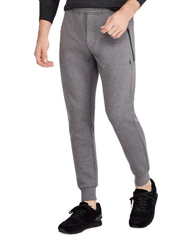 Polo Ralph Lauren Double-Knit Joggers-GREY-X-Large