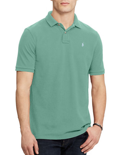 Polo Ralph Lauren Classic-Fit Weathered Mesh Polo-GREEN-XX-Large