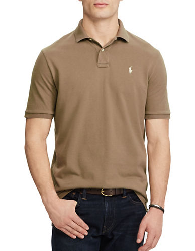 Polo Ralph Lauren Classic Weathered Mesh Polo-BROWN-Large