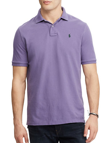 Polo Ralph Lauren Classic Weathered Mesh Polo-PURPLE-Small