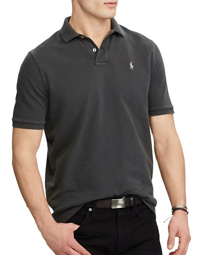 Polo Ralph Lauren Classic Weathered Mesh Polo-GREY-Large