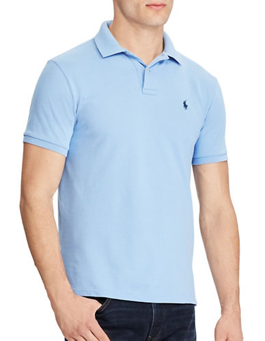 Polo Ralph Lauren Custom Slim-Fit Weathered Mesh Polo-BLUE-XX-Large