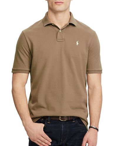 Polo Ralph Lauren Custom Slim Fit Weathered Mesh Polo-BROWN-XX-Large