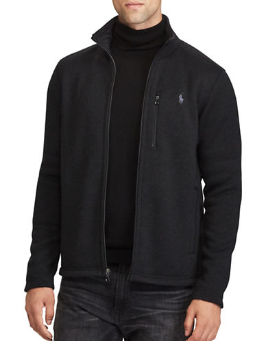 Polo Ralph Lauren Fleece Mockneck Jacket-POLO BLACK-X-Large