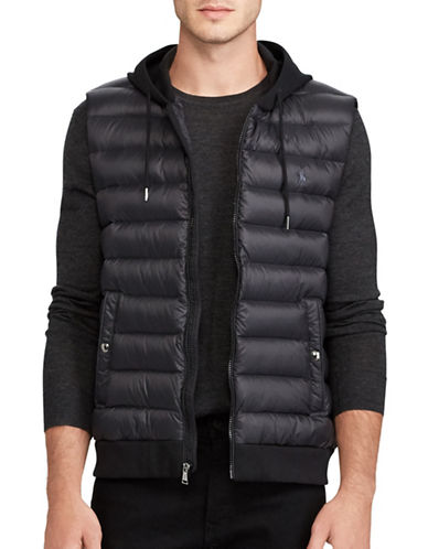 Polo Ralph Lauren Down-Panel Double-Knit Vest-POLO BLACK-Large
