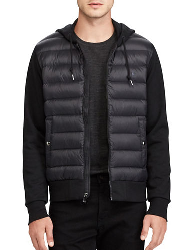 Polo Ralph Lauren Paneled Down Hoodie-POLO BLACK-Small