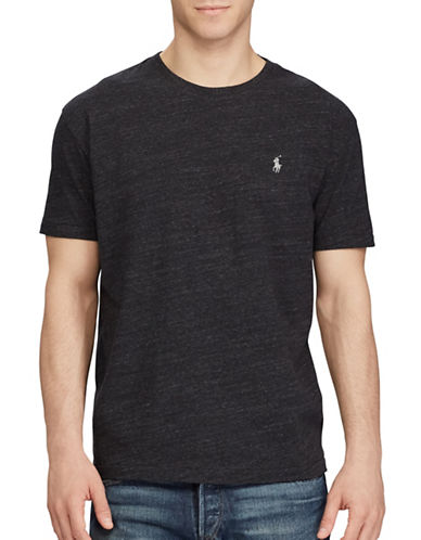 Polo Ralph Lauren Custom Slim-Fit Cotton Tee-BLACK-XX-Large