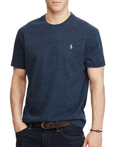 Polo Ralph Lauren Custom Slim-Fit Cotton Tee-BLUE-Small 89320496_BLUE_Small